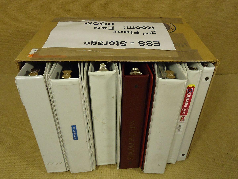 mm1766 101812-712u Professional Box of 12 Binders/Notebooks 16in x 12in x 11in White/Burgundy
