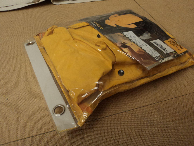 110912-126d Custom Leathercraft Mfg. Trench Coat Yellows .35mm Raincoat R105XL PVC