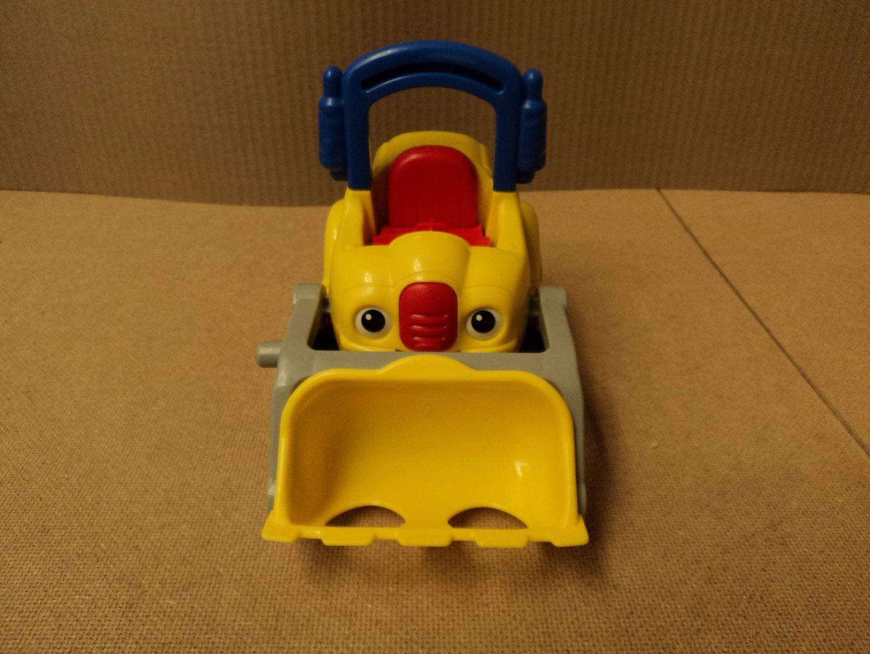 110912-280d Fisher Price Bulldozer 5in W x 9in L x 7in H Yellow/Red/Black Plastic