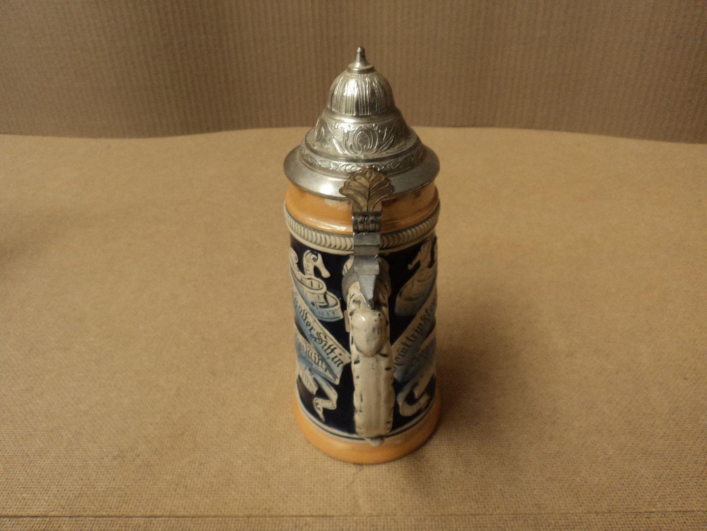 hc4042 111012-520f Lerchen Beer Stein 9in H x 4in Diameter Multi-Color Germany Ceramic