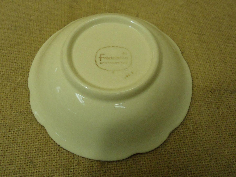 111712-310b Franciscan Vintage Cereal Bowl Coupe 5 7/8in Floral Desert Rose USA Earthenware