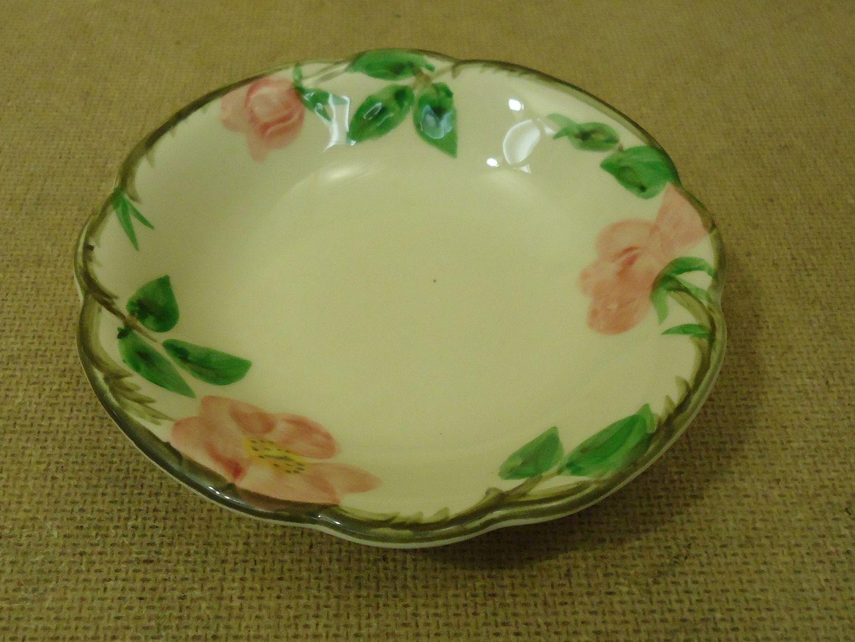 111712-312b Franciscan Vintage Desert Bowl 5 1/4in Floral Desert Rose USA Earthenware