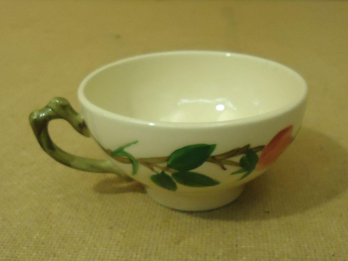 111712-316b Franciscan Vintage Tea & Coffee Cup Floral Desert Rose USA China