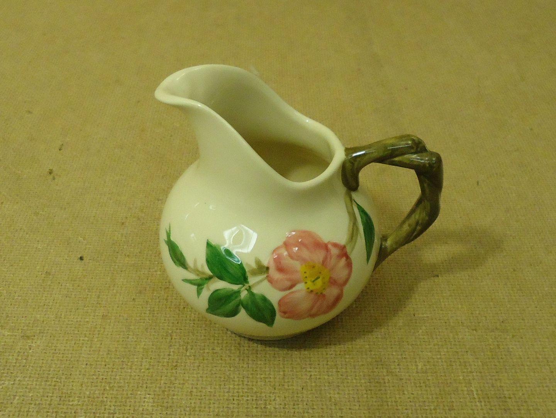 111712-324b Franciscan Vintage Creamer 4 1/4in H 10oz Floral Desert Rose USA Earthenware