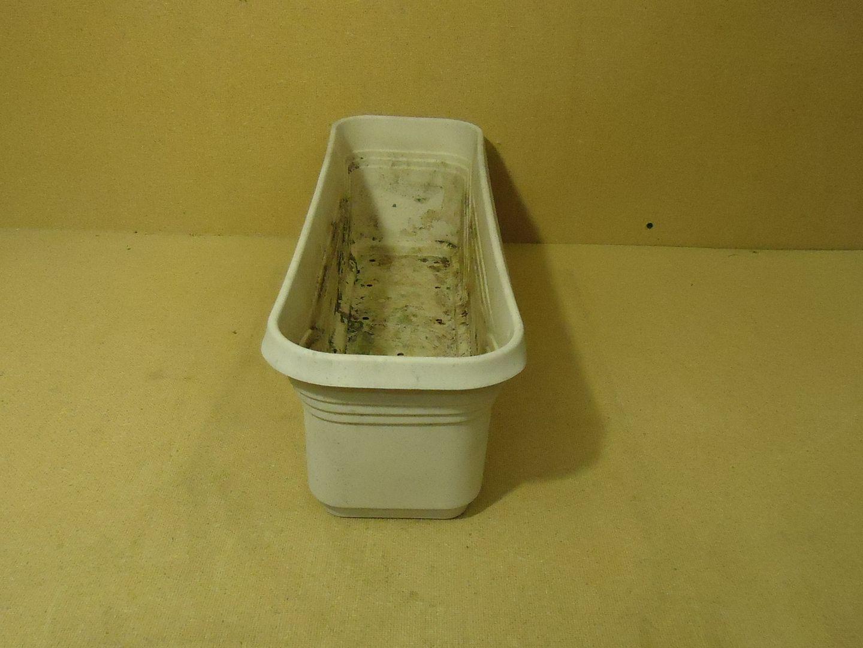 111712-352b Planter 24in L x 7in W x 7in H Beige/Gray Plastic