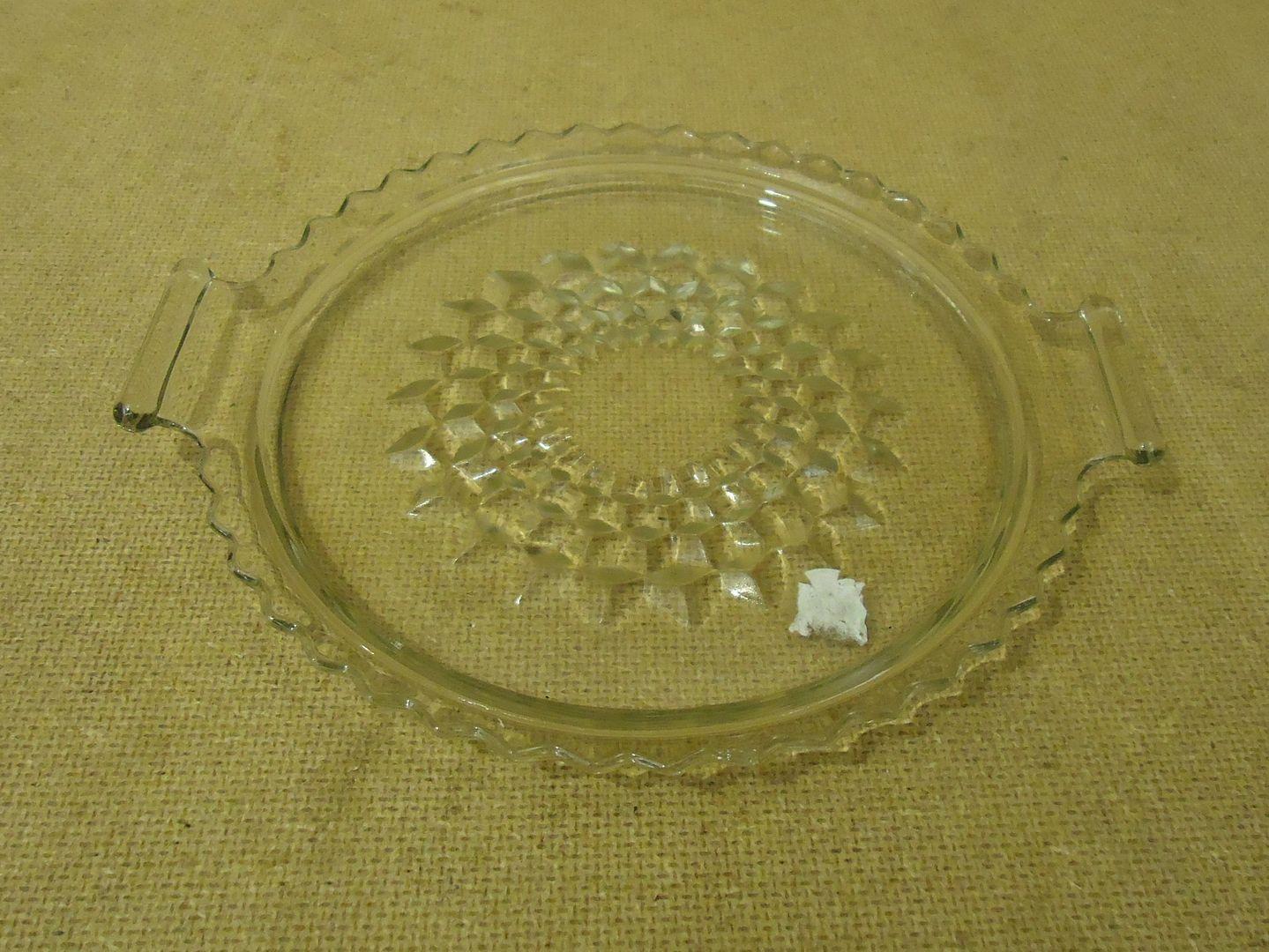 lm7410 111712-156n Designer Decorative Glass Dish 7 1/2in Diameter x 1/2in H Clear Glass