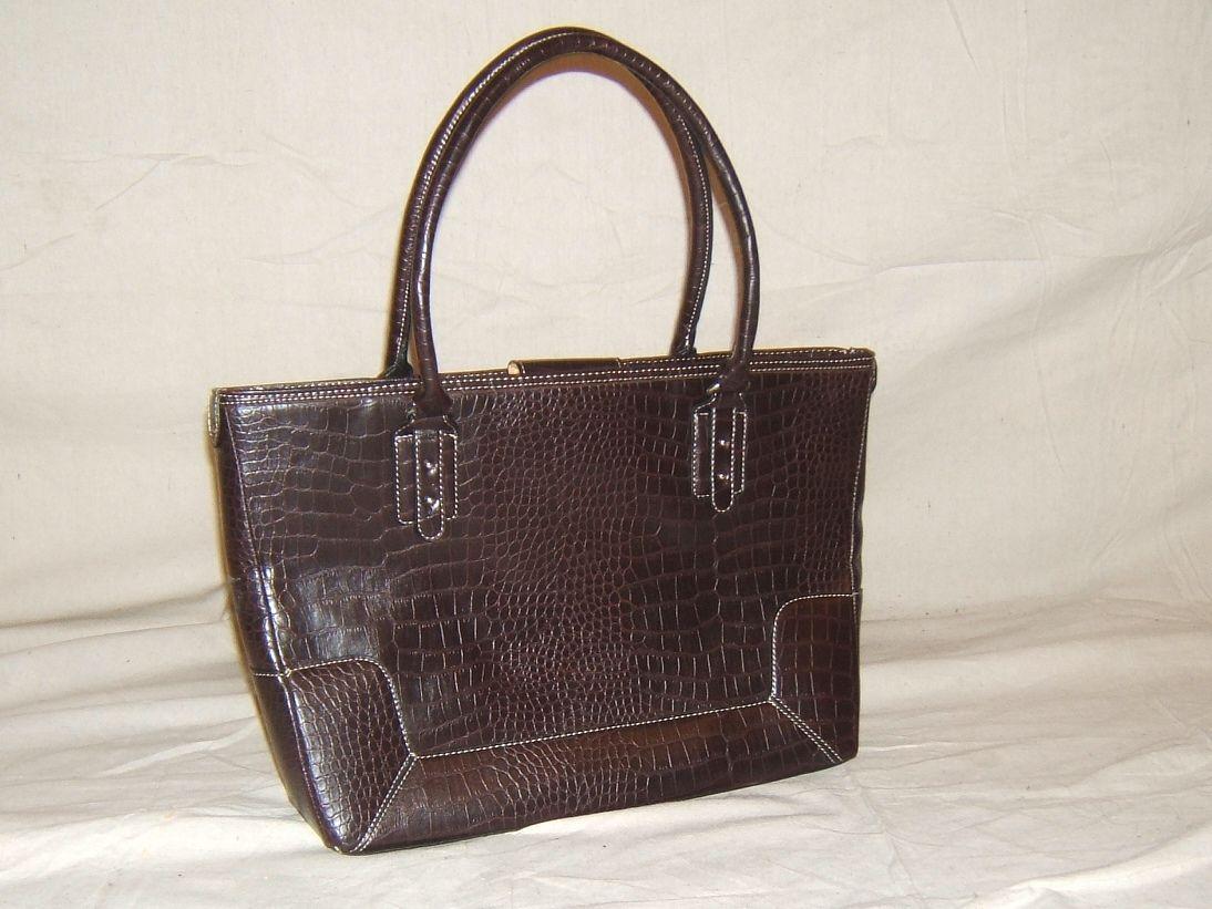ev5032 112212-124k Apostrophe Handbag Purse Totes & Shoppers Faux Leather Female Adult Browns Solid