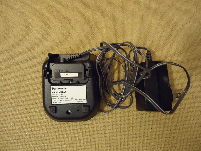 112612-440n Panasonic Cordless Handset Base Blacks Charging PNLC1001ZAB