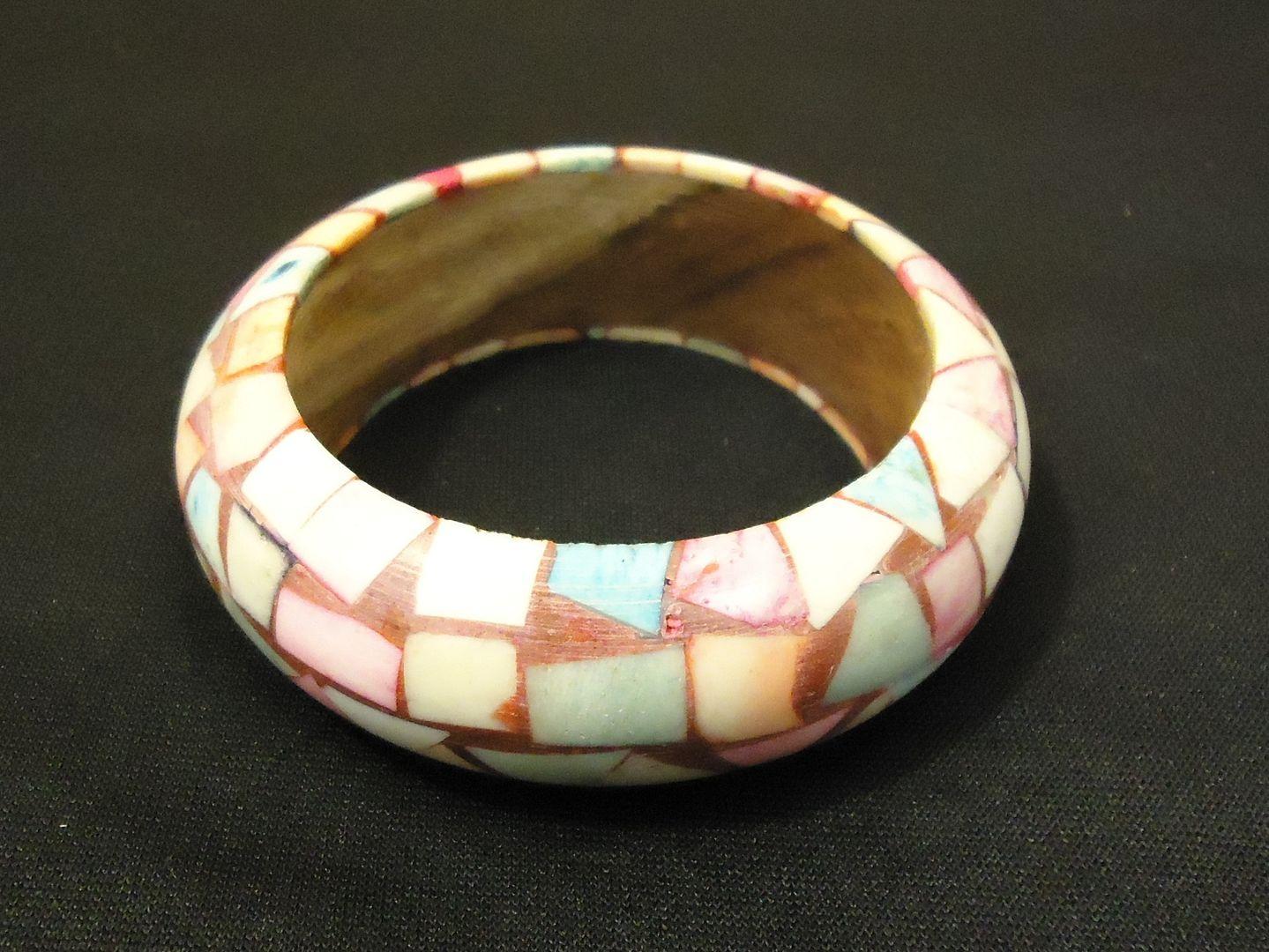lm7410 112712-534n Designer Fashion Bracelet Bangle Wood Plastic Female Adult Multicolor