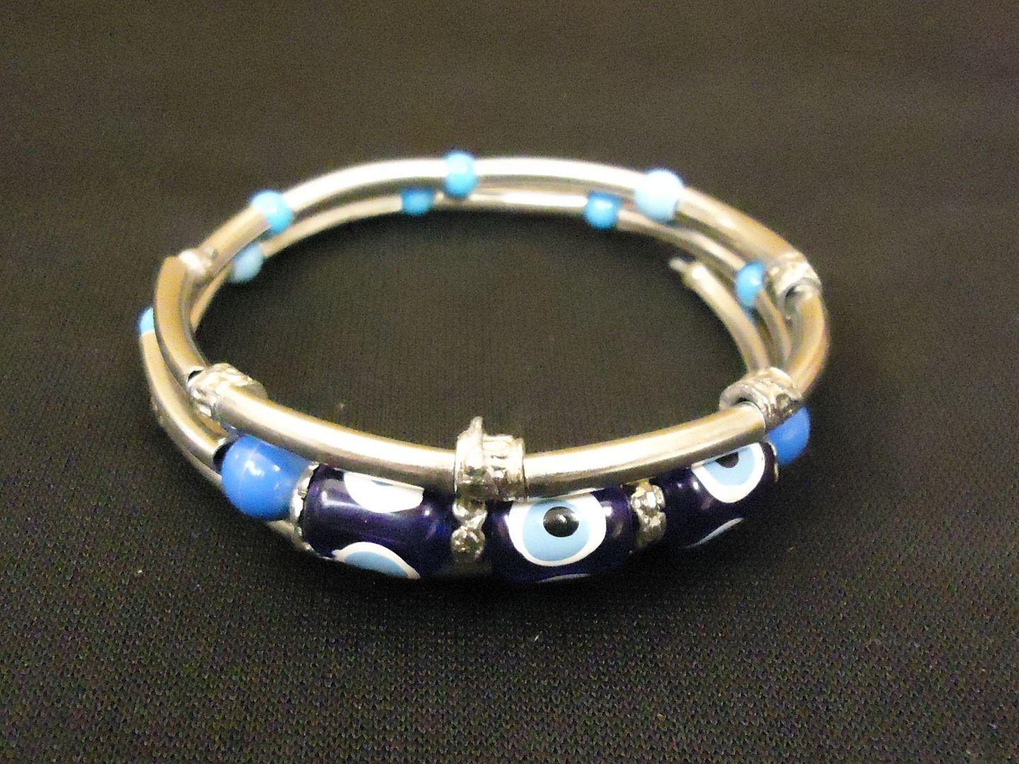 lm7410 112712-544n Designer Fashion Bracelet Bangle Metal Stones Female Adult Silvers/Blues