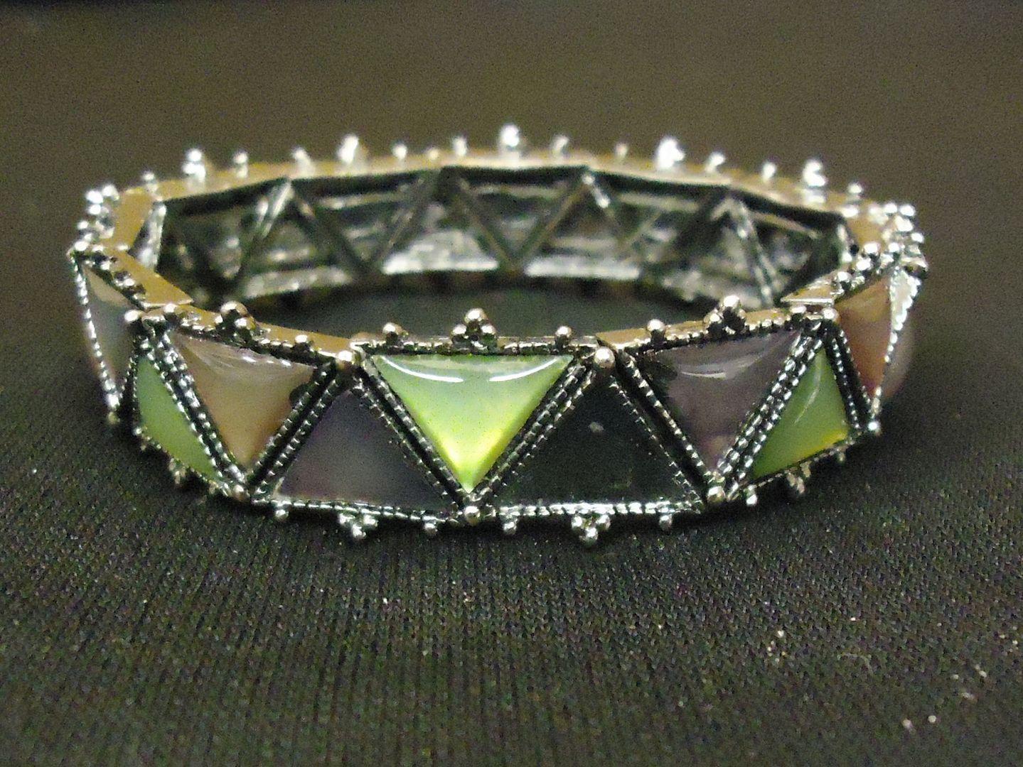 lm7410 112712-574n Designer Fashion Bracelet Chain/Link Metal Female Adult Silver/Green/Brown