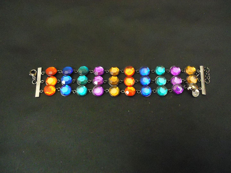 lm7410 112712-598n Designer Fashion Bracelet Chain/Link Plastic Metal Female Adult Multi-Color