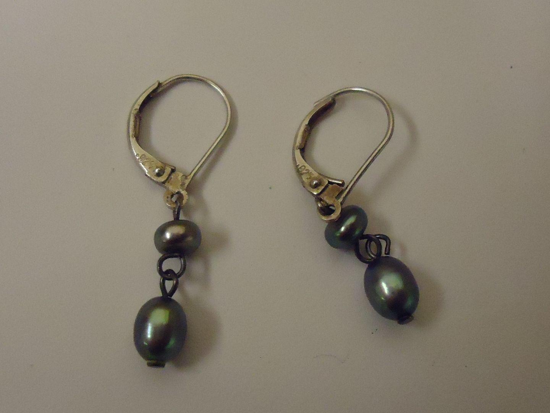 lm7410 120212-754n Designer Fashion Earrings Drop/Dangle Metal Female Adult Silver/Greens