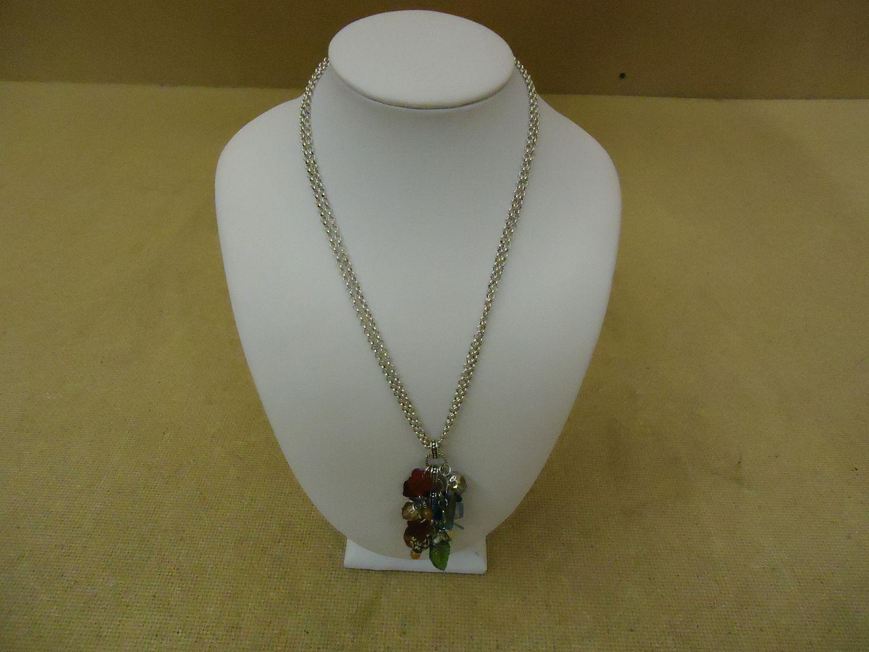 lm7410 120212-782n Designer Fashion Necklace 16-18in L Drop/Dangle Chain Female Adult Multi-Color