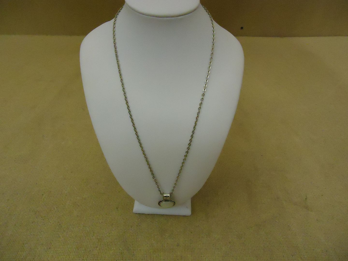 lm7410 120212-784n Designer Fashion Necklace 20in L Drop/Dangle Chain Metal Female Adult Silver