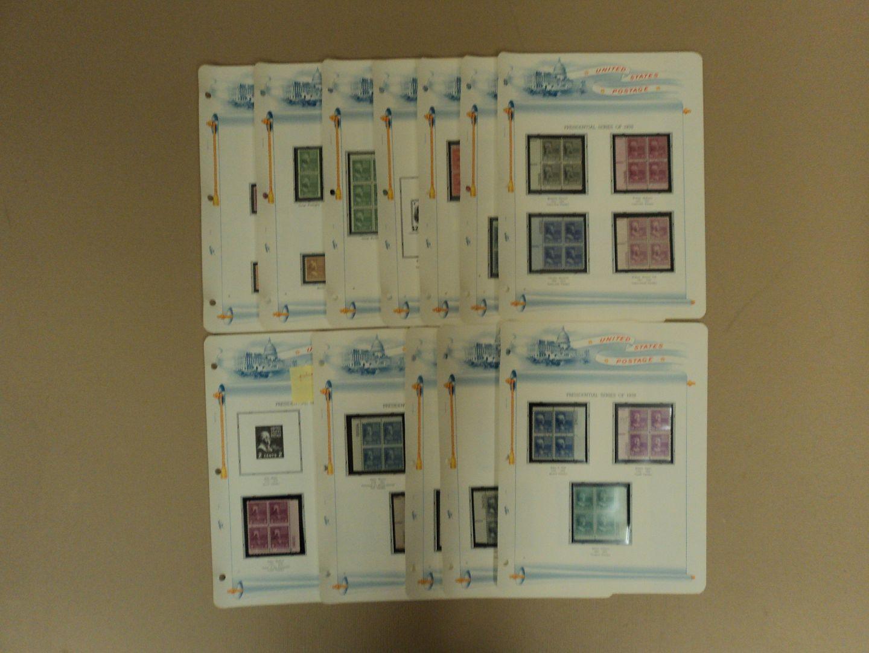 031813-1798c-V USPS Scott 803-834 1938-54 Presidential Issue Lot Of 44 Plate Block Mint photo DSC01036.jpg