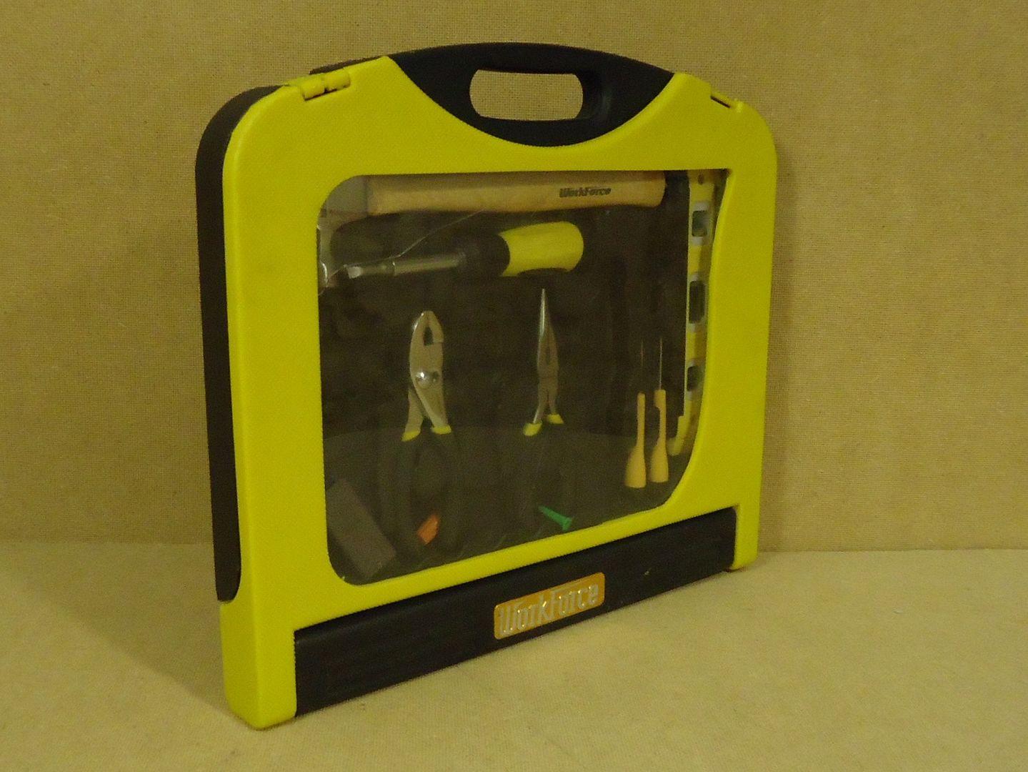 mm1766 100312-502d WorkForce Portable Tool Set 17 1/4in x 15in x 2in Yellow/Black Plastic Metal