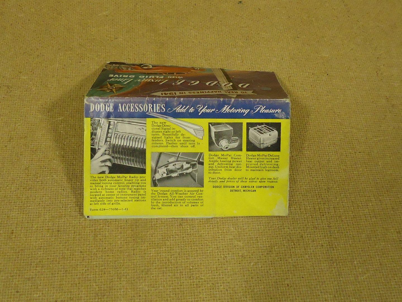 mm1766 100312-524d Dodge Vintage 1940s Brochure 19in x 13.5in Yellow/Red Luxury Liner Paper