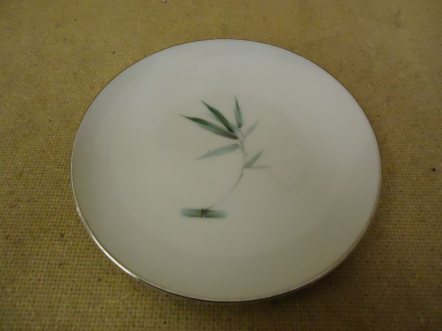 122912-382a Sango Vintage Bread & Butter Plate 6 1/8in Diameter Bamboo Knight China