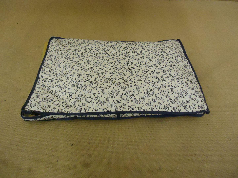 122912-416a Cover Ups Dish Case 18in L x 12in W x 1in H White/Blue Floral Plastic