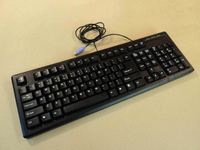 120714-408t DCT Factory OG Deluxe Desktop Computer Keyboard PS2 KBJ-006B photo DSC08141-1.jpg