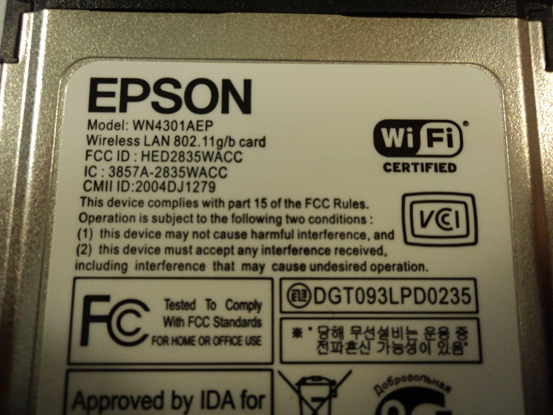 122714-840c Epson Wireless LAN Card 802.11g 802.11b WN4301AEP photo DSC09630.jpg