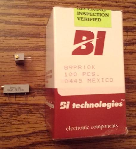 Lot of 100: BI Technologies 89PR10K